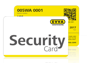 Security card cilindri EVVA